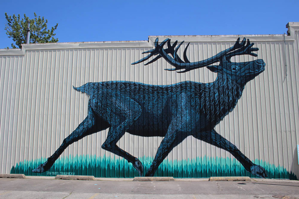 Mountain caribou mural