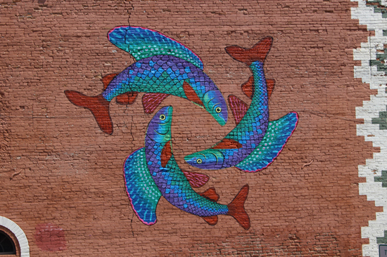 Montana arctic grayling mural