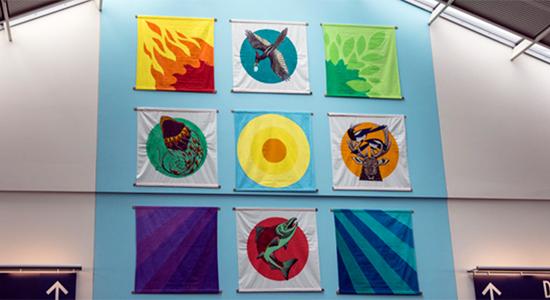 Sockeye salmon mural