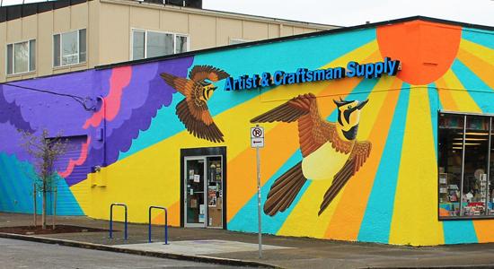Streaked horned lark mural