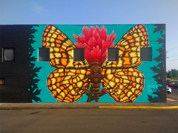Taylor's checkerspot butterfly, Endangered Species Mural Project