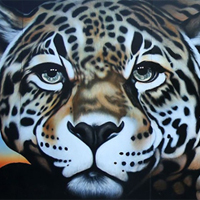 Endangered species mural, jaguar