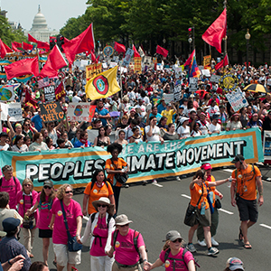 Protestors at Peoples Climate March