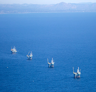Offshore oil rigs