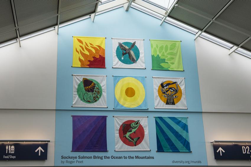 Portland Airport mural