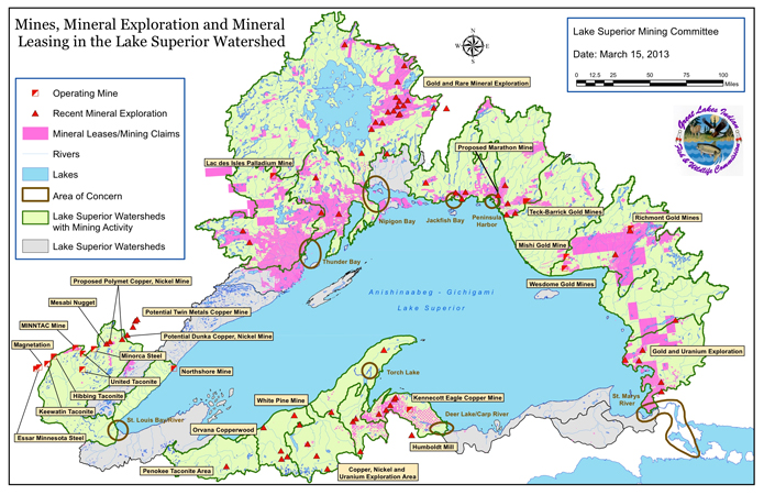 Great Lakes Mining - Us iron mines map